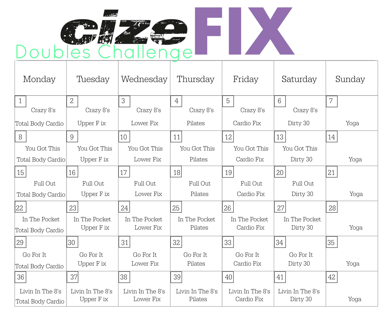 6 Week Cize Fix Challenge